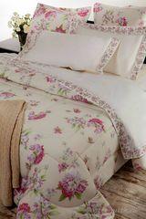 Постельное белье семейное Mirabello Rododendri с розовыми цветами