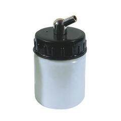 Баночка для краски с крышкой, пластиковая, с штуцером 45