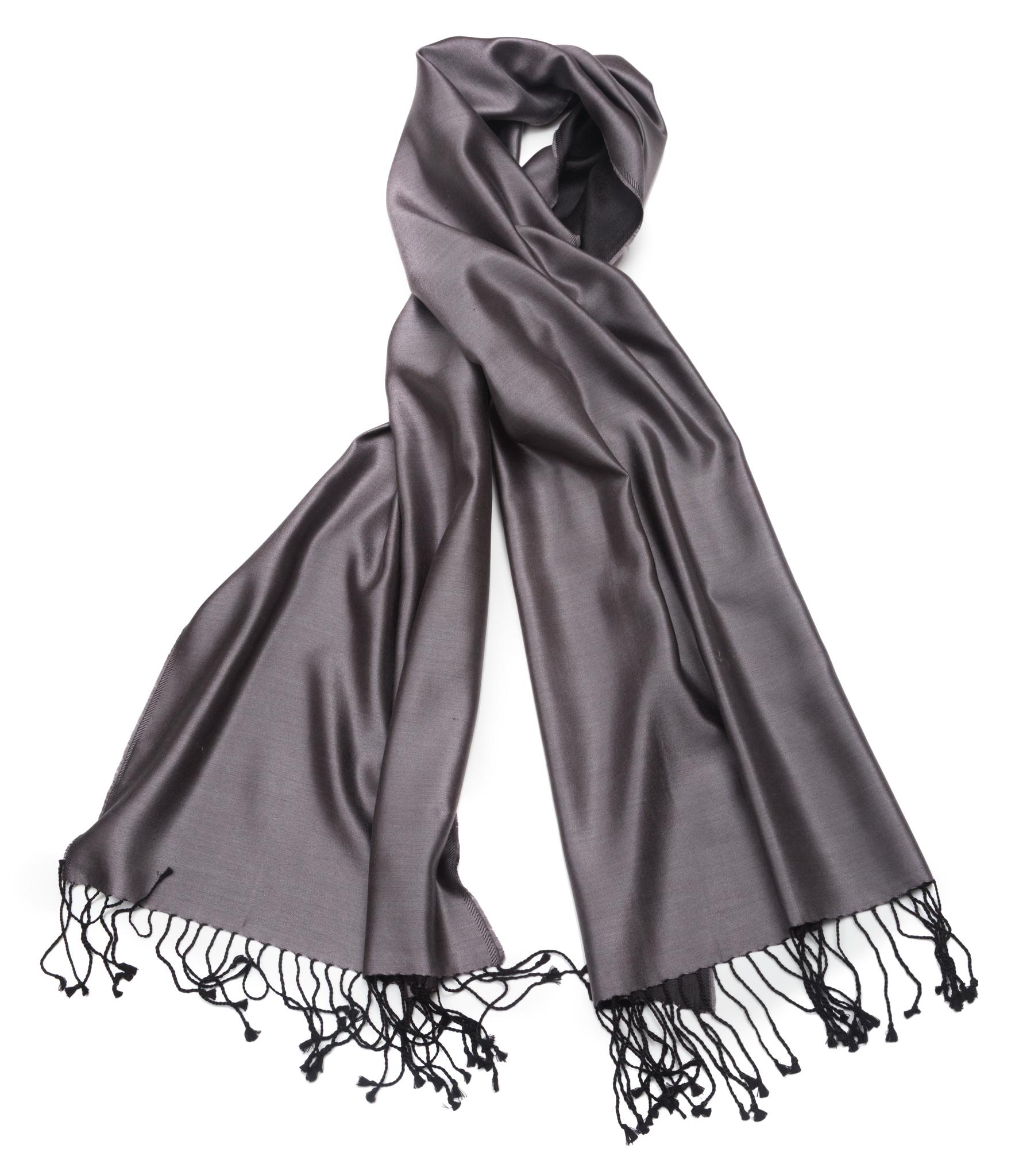 Плед-шарф 50х180 AM Paris Paraty серый-черный