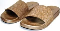 Пляжные сланцы женские J.B.P. Shoes NU25 Gold.