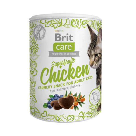 Лакомство Brit Care Superfruits Chicken для кошек