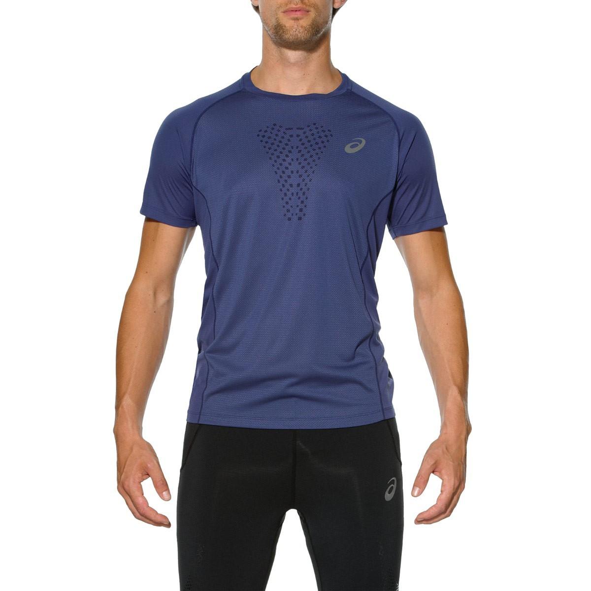 Мужская футболка для бега Асикс FujiTrail Ultra Top (130006 8133) синяя фото