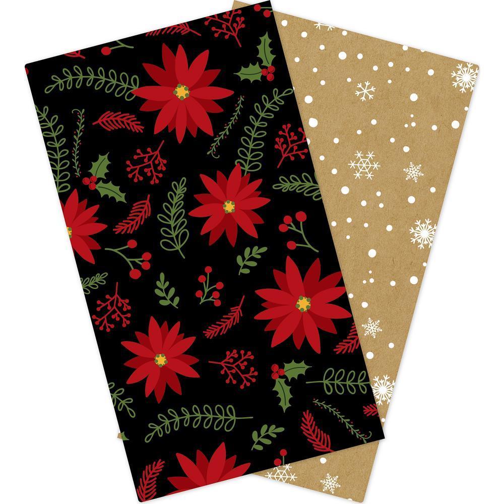 Набор внутренних блоков для тревелбука  - 11х21 см-Echo Park Traveler's Notebook - Celebrate Christmas Lined - 2 шт