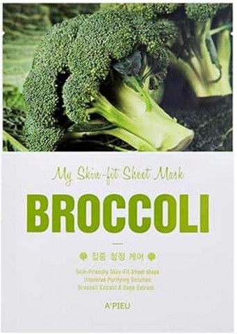 A'PIEU Тканевая маска с экстрактом брокколи My Skin-Fit Sheet Mask Broccoli