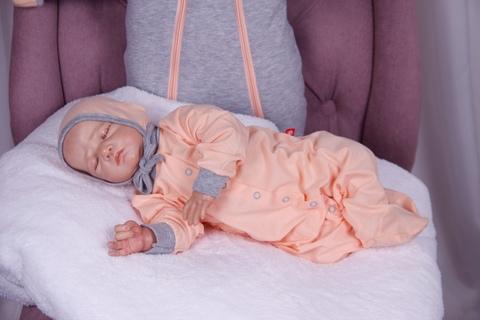 Человечек для новорожденных с чепчиком Mini