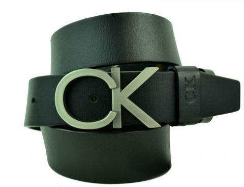 Ремень мужской чёрный 40 мм для джинсов из кожи Calvin Klein 40brend-KZ-200