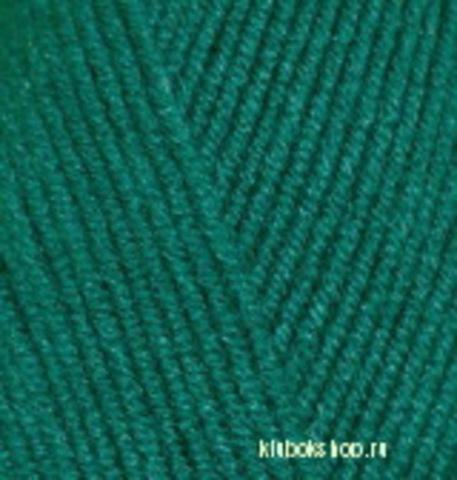 Пряжа Lanagold FINE (Alize) 507 Античный зеленый, фото