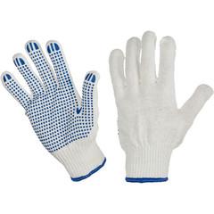 Перчатки трикотажные с ПВХ Точка 6 нитей 62г 10класс ручн оверлок10пар/уп