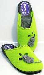 Тапочки для девушек Inblu NC- 1B Mouse Light Green