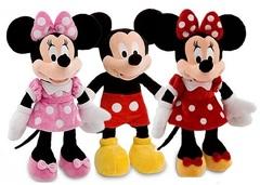 Дисней плюшевые игрушки Микки и Минни Маус