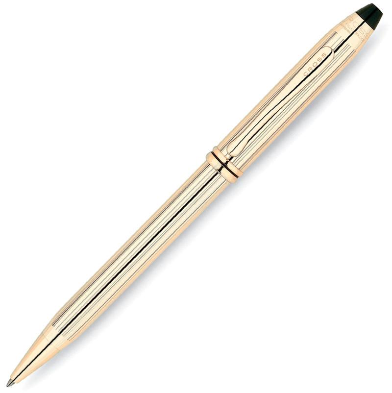 Cross Townsend - 10 Karat Rolled Gold, шариковая ручка, M, BL