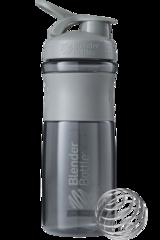 BlenderBottle SportMixer, Универсальная Спортивная бутылка-шейкер с венчиком.  Pebble-Grey-серый-графит 828 мл cat