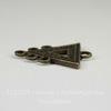 """Коннектор """"Треугольник"""" (1-5) 25х19 мм  (цвет - античная бронза)"""