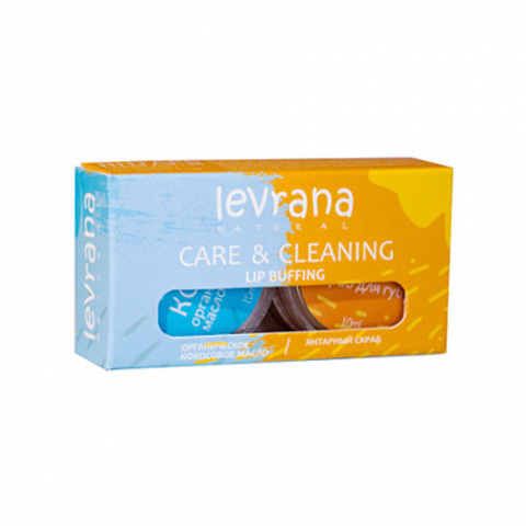 CARE & CLEANING. Масло + скраб для губ (Levrana)