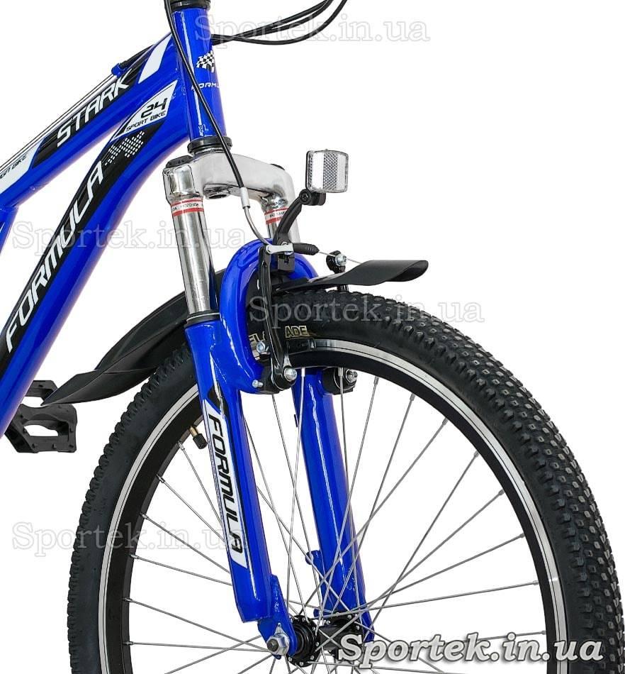Амортизационная вилка горного универсального подросткового велосипеда Formula Stark 2015 (Формула Старк)