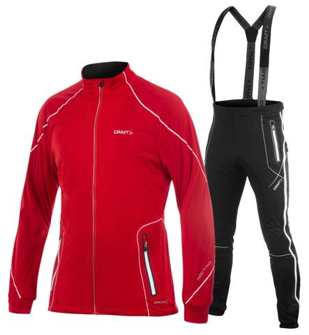 Мужской костюм для беговых лыж Craft High Function 1902269-1902368 красный
