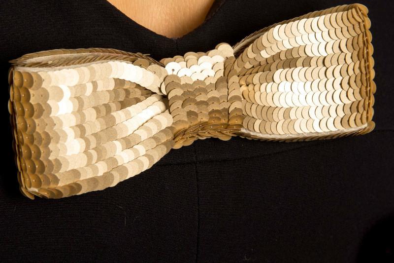 Изысканное коктейльное платье от Chanel, украшенное пайетками, 36 размер