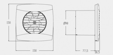 Вентилятор накладной Cata UC-10 STD Black