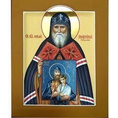 Николай Гурьянов (Псковоезерский) протоиерей. Рукописная икона.