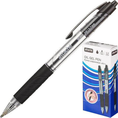 Ручка шариковая Attache Selection Air c манжеткой, черн. стерж