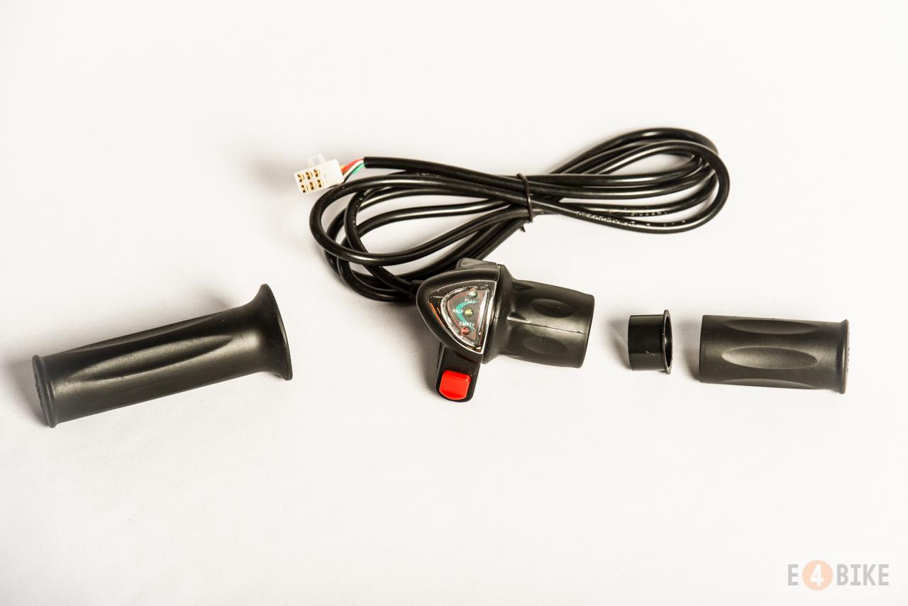 Ручка газа (под кисть) - Мото с индикатором