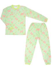 640-3 пижама детская, зеленая
