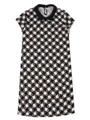 GDR003360 Платье женское, черное-белое