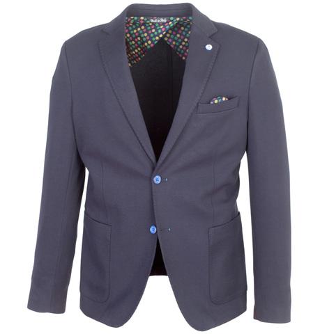 Тёмно-синий пиджак из вискозы