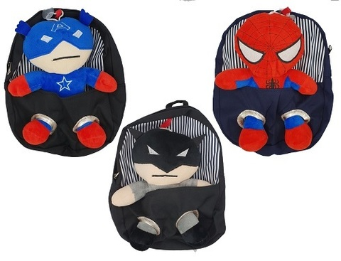 Супергерои рюкзак детский с игрушкой