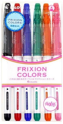 Стираемые маркеры Pilot FriXion Colors (6 шт. — набор №3)