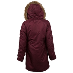 Парка Alpha Industries Elyse Maroon (бордовая)