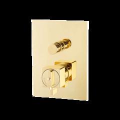 Смеситель Migliore Kvant Gold 25406 для душа термостат встраиваемый с переключателем , золото