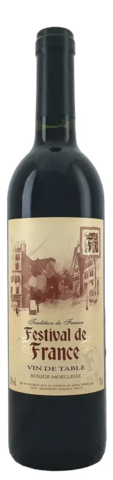 Вино Фестиваль де Франс столовое красное п/сл. 0,7 л