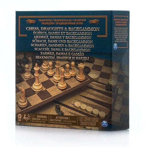 Spin Master: Настольная игра 3 в 1 (шахматы, шашки, нарды) 6038107