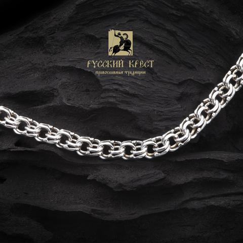 Цепь серебряная плетения Бисмарк