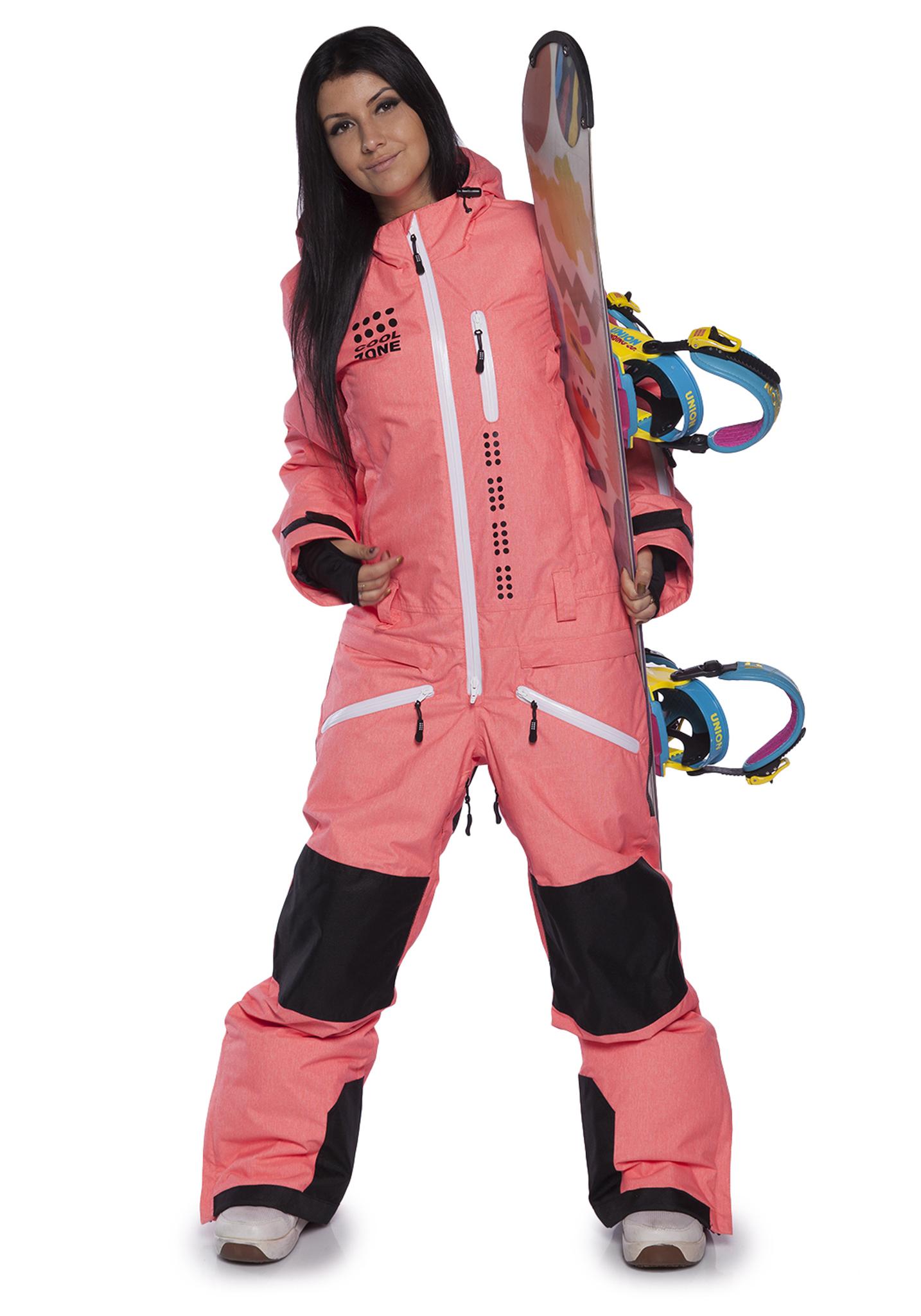 Женский сноубордический комбинезон Кул Зон кайт  31К17М оранжевый