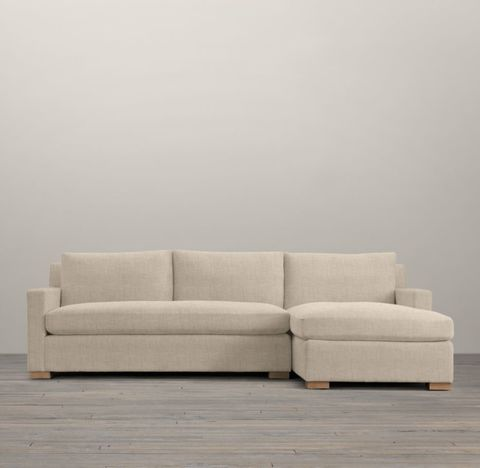 Belgian Track Arm Right-Arm Sofa Chaise Sectional