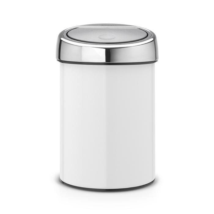 Мусорный бак Brabantia Touch Bin (3л), Белый, арт. 364488 - фото 1