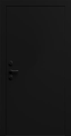 Входная дверь «Linea 1» в цвете, Эмаль черная