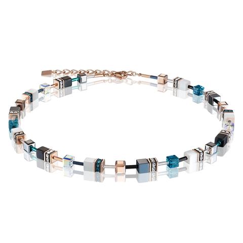 Колье Coeur de Lion 4013/10-0624 цвет синий, чёрный, белый