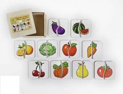 Картинки-половинки Овощи-фрукты, ToySib