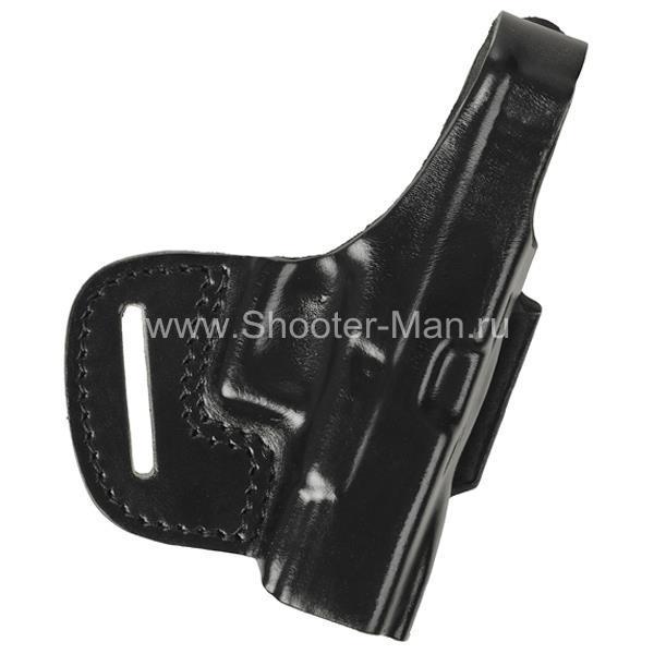 Кобура кожаная поясная для пистолета Глок 17 ( модель № 6 )