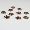 Шапочка для бусины ажурная (цвет - античная медь) 12х3,5 мм, 10 штук