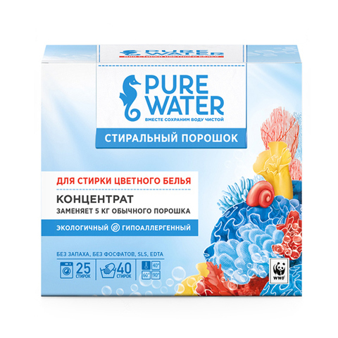 МиКо, Стиральный порошок для цветного белья Pure Water, 800гр