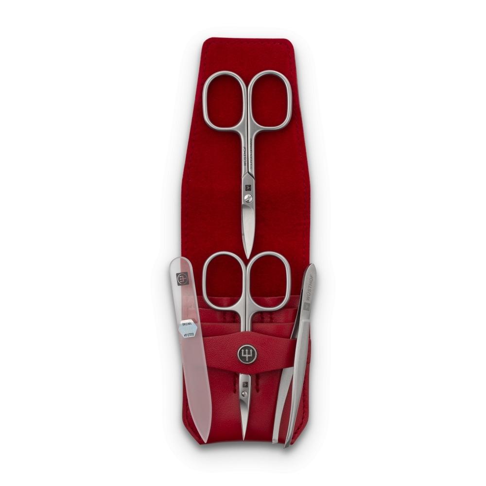 Подарки Набор маникюрный 4 предмета в кожаном футляре Wuesthof Manicure sets 9127-2 38168_1000.jpg