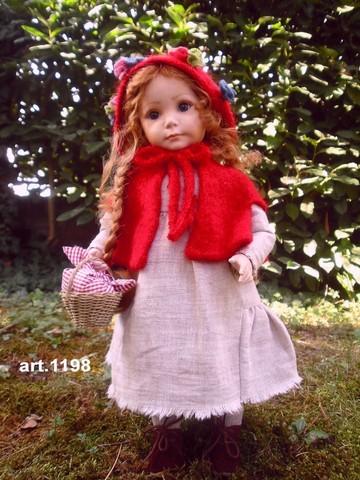 Кукла фарфоровая коллекционная Marigio Cappuccetto Rosso