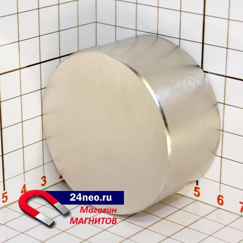 Неодимовый магнит диск 60х30 мм