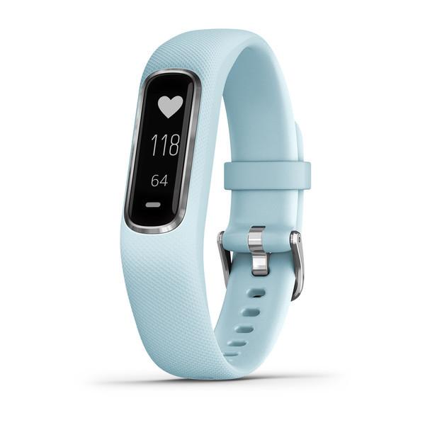 Женский фитнес-браслет с пульсометром Garmin Vivosmart 4 голубой с серебром