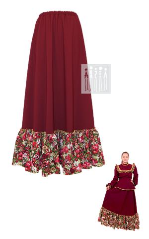 Фото Казачья народная юбка женская рисунок Выбирайте лучший казачий костюм в Мастерской Ангел. Мы специализируемся на народной, в том числе, казачьей одежде!