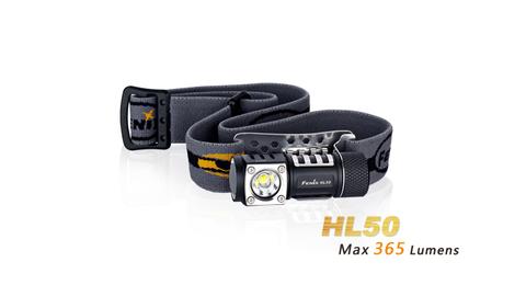 Фонарь Fenix HL50 (XM-L2 T6, ANSI 365 лм, CR123A/АА)